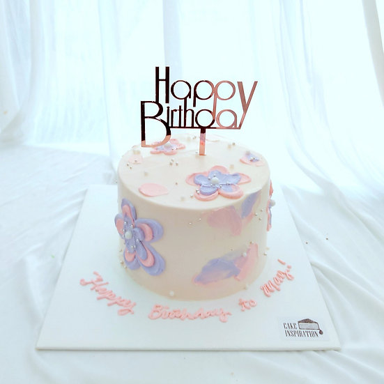 (HB12) Petals All Over Cake - 6inch