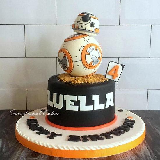 Star Wars BB-8 Robot 3d Sugarcraft Figuine 3d Customized Cake