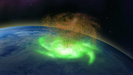 Space hurricane that rained electrons spotted over the North Pole? Yes.