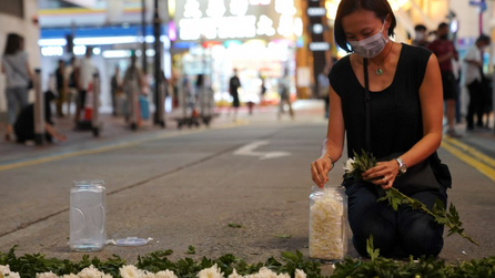 Tiananmen Square Victims Memorial stopped by Hong Kong authorities