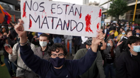 Violent protests erupt in the streets of Colombia as a response to economic unrest