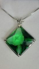 Gorgeous Tibetan Green Obsidian Magician Stone