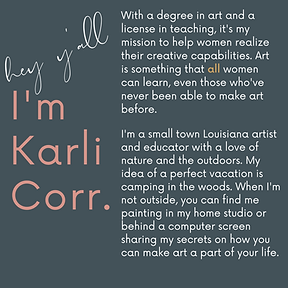 About Karli Corr Artist and Online Art Teacher