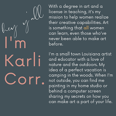 About Karli Corr Artist and Online Teacher