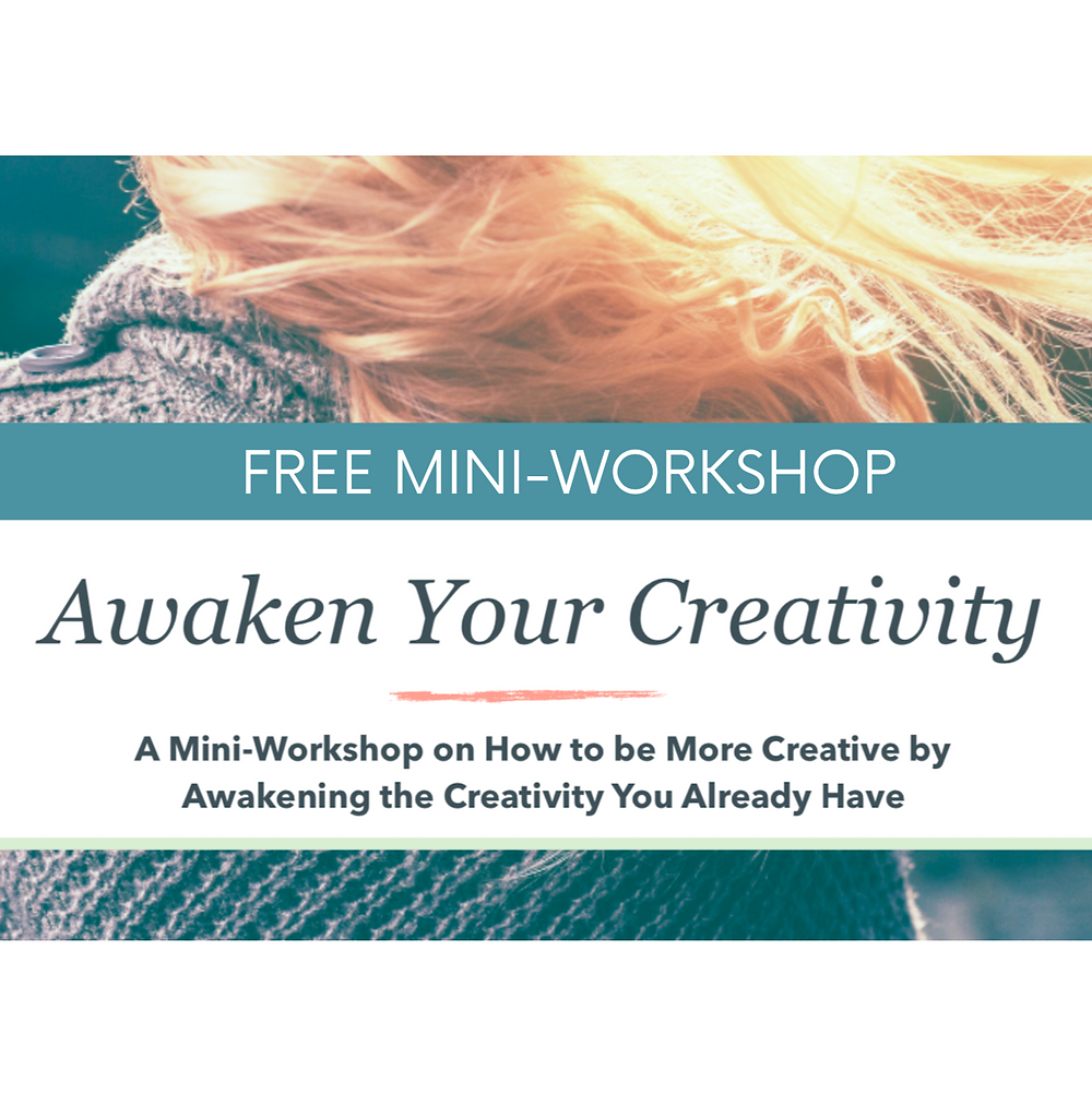 Woman taking a free workshop to awaken her creativity