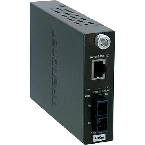 TRENDnet 100Base-TX to 100Base-FX Single Mode SC Fiber Converter (60KM)