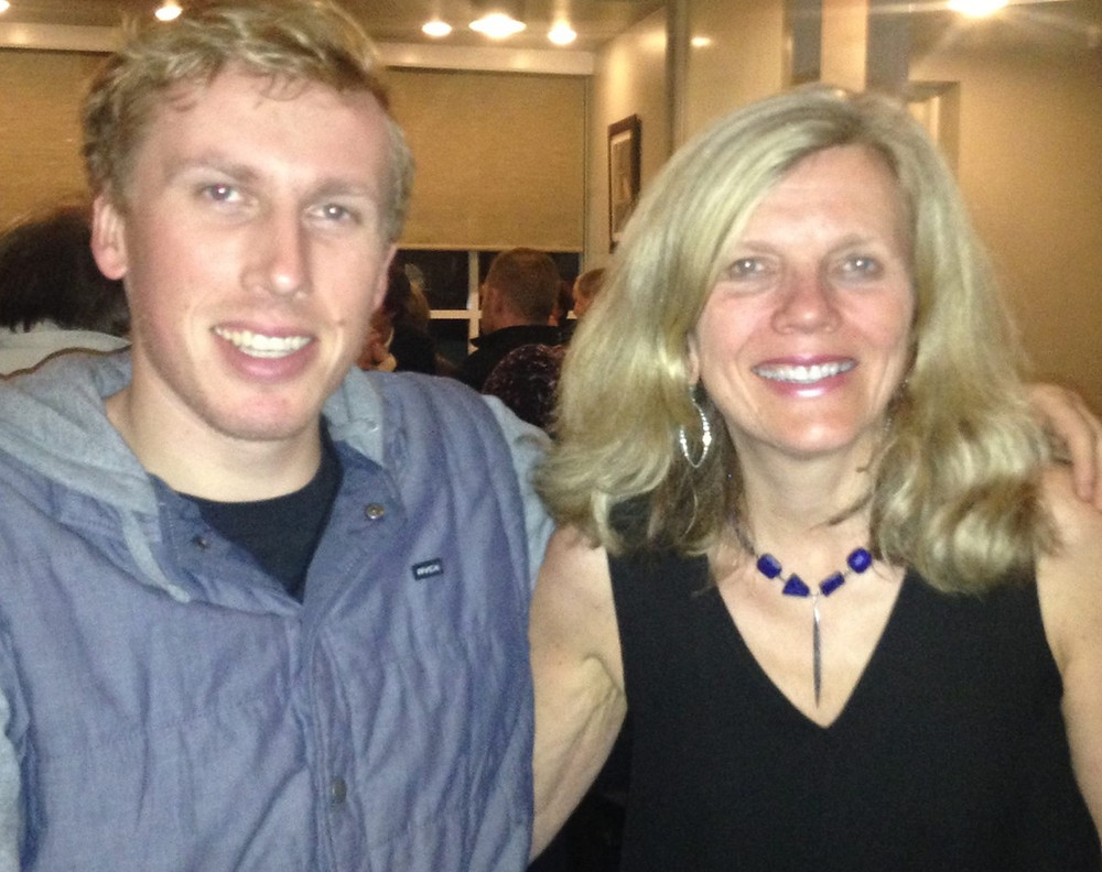 photo of Liz Bement and her son, Alex smiling