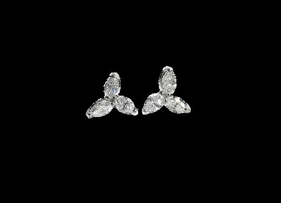 Trillium flower Earrings