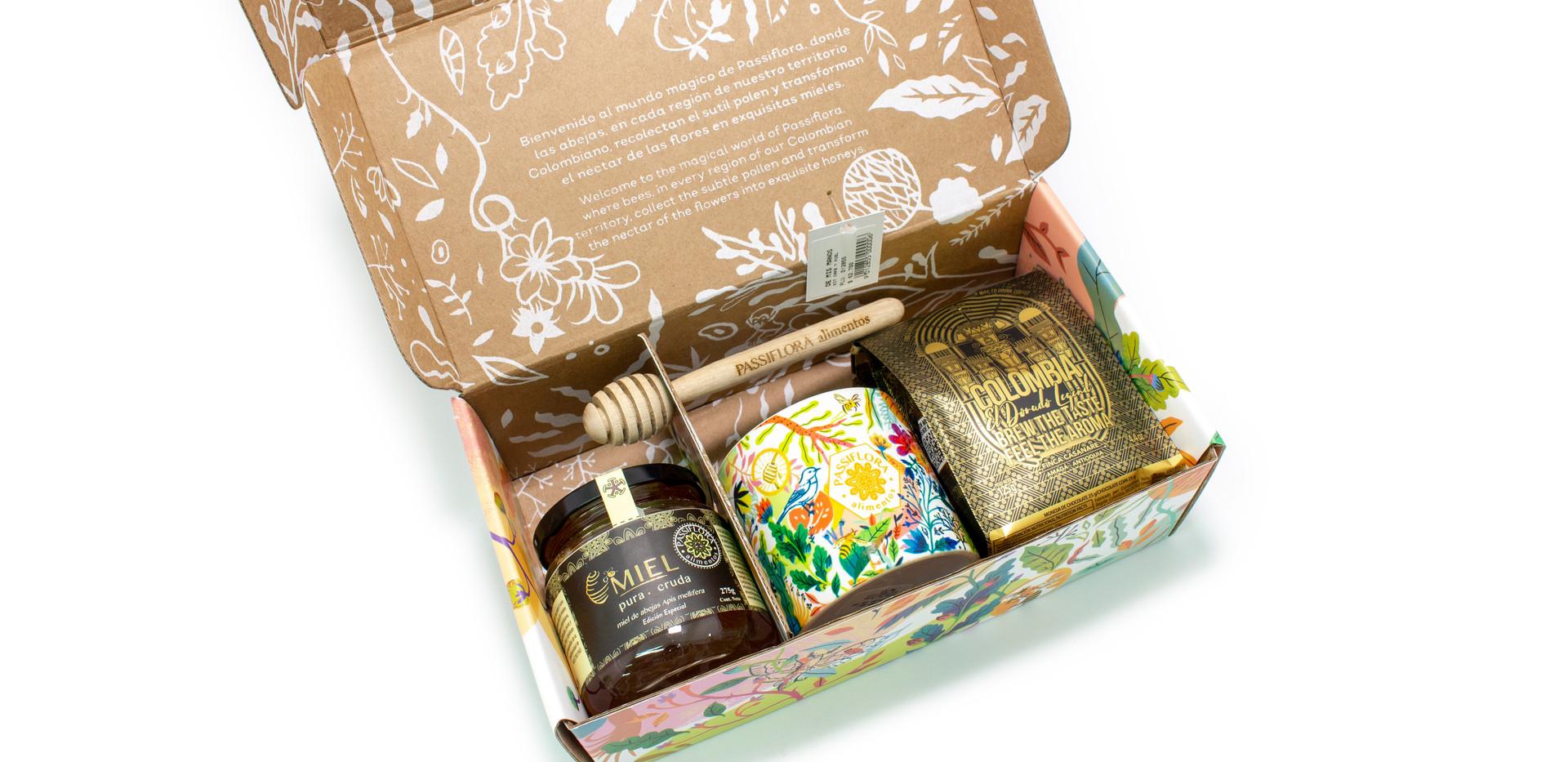 Caja Passiflora Miel y cafe
