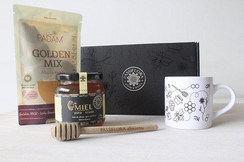 Caja de Regalos Negra - Golden Mix PADAM