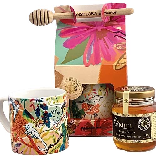 Caja de Flores- Mug y miel