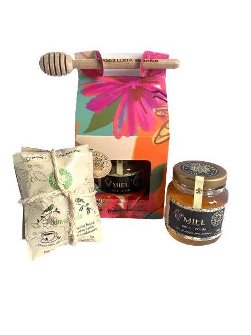 Caja Flores con Miel 150g y 5 aromáticas
