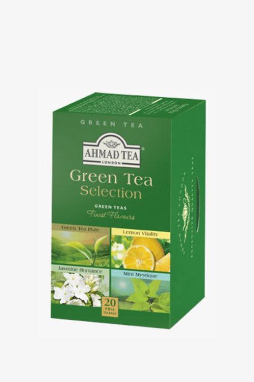 Selección de té verde saborizados 20 und.