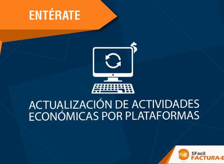ACTUALIZACIÓN DE ACTIVIDADES ECONÓMICAS POR PLATAFORMAS