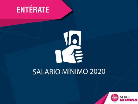 SALARIO MÍNIMO 2020