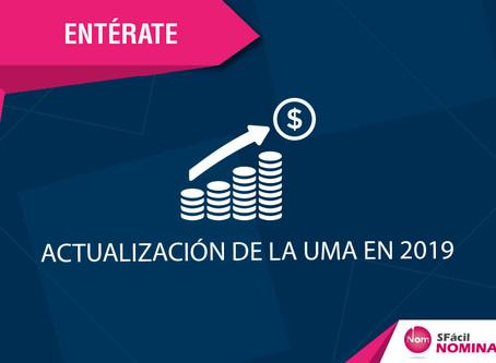 ACTUALIZACIÓN DE LA UMA EN 2019