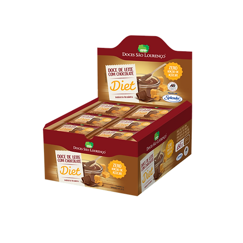 Display 24und. - Doce de Leite com Chocolate Diet 20g