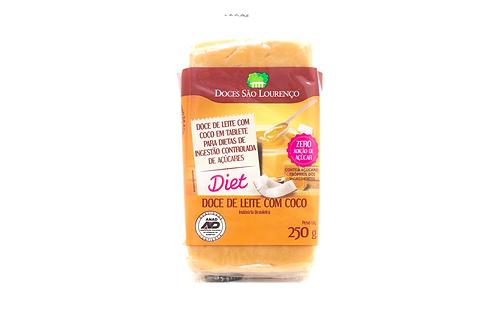 Doce de Leite com Coco Diet Tablete 250g