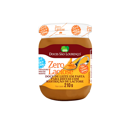 Doce de Leite Zero Glúten Zero Lactose Zero Acucar 210g