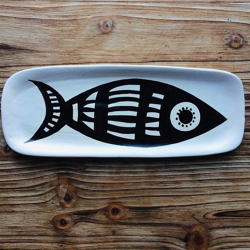Hand Painted Fish Platter