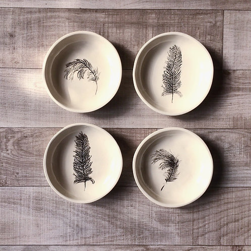 Feather Bowl Set of 4