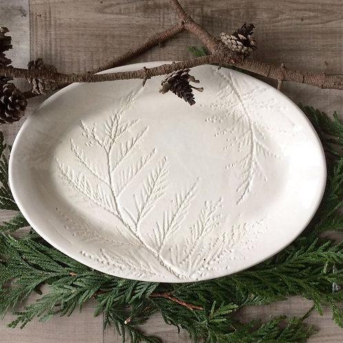 Pinelands White Serving Platter
