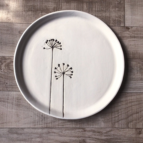 Botanical Round Platter