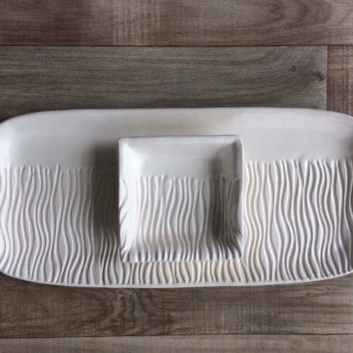 Rectangle Water Ripple Platter and Bowl Set