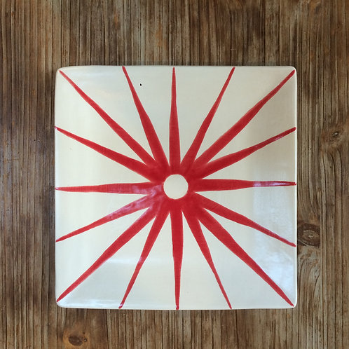 Red Starburst Plate