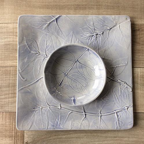 Garden Leaf Plate and Bowl Set