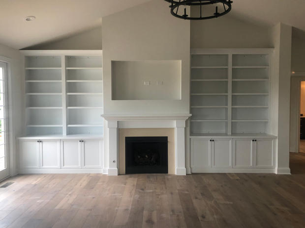 Recessed Shelving and Mantel
