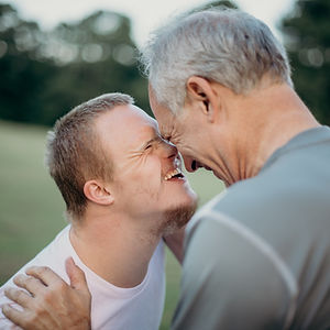A man and his son with down's syndrome