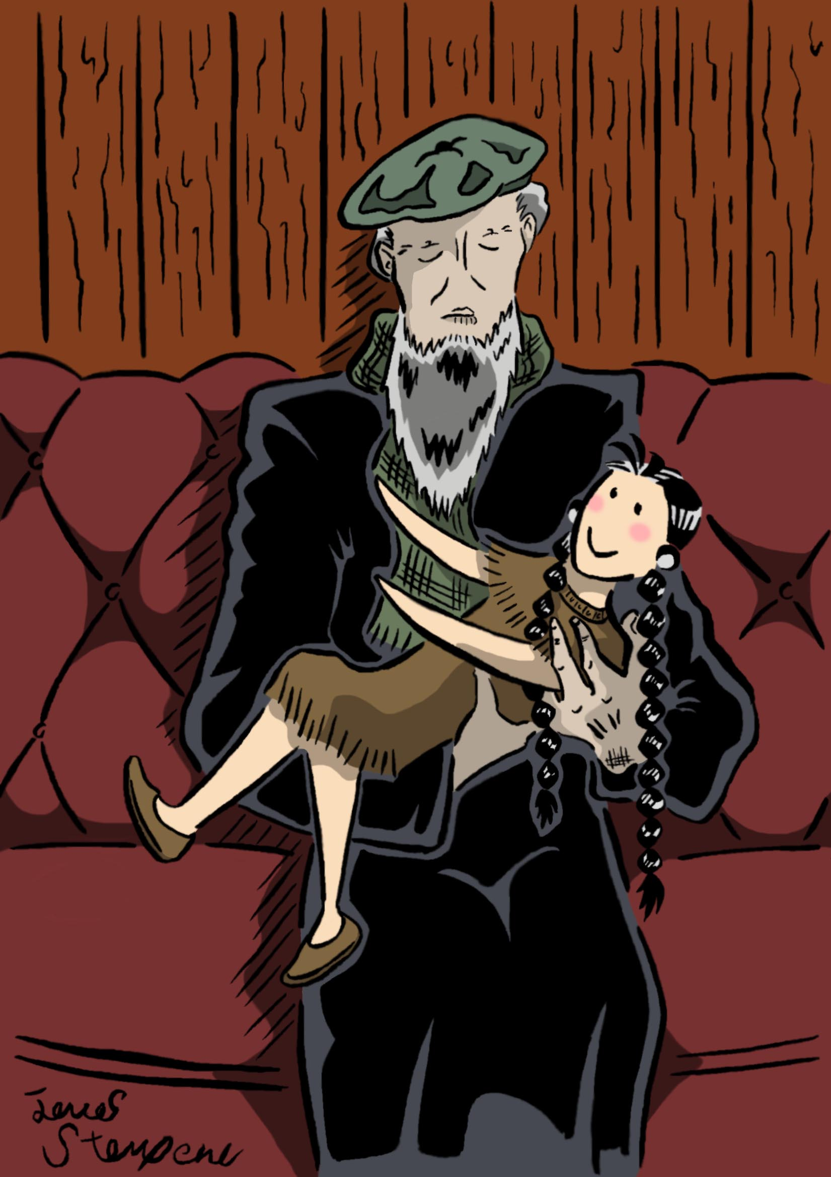 Old Man & the Doll