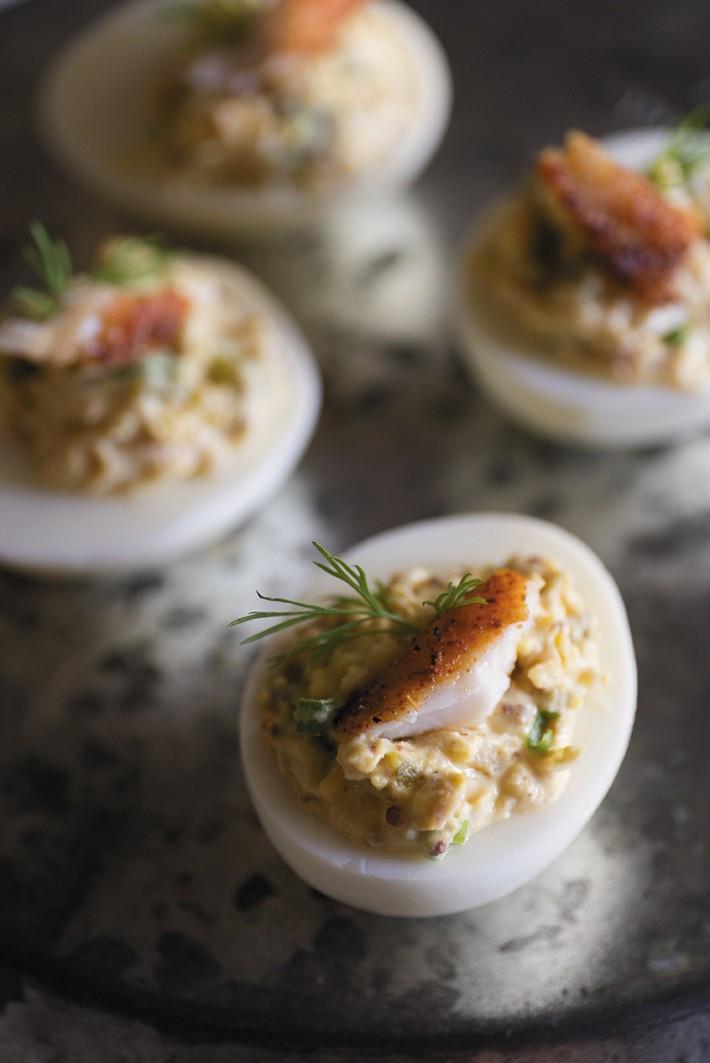 Catfish Deviled Eggs