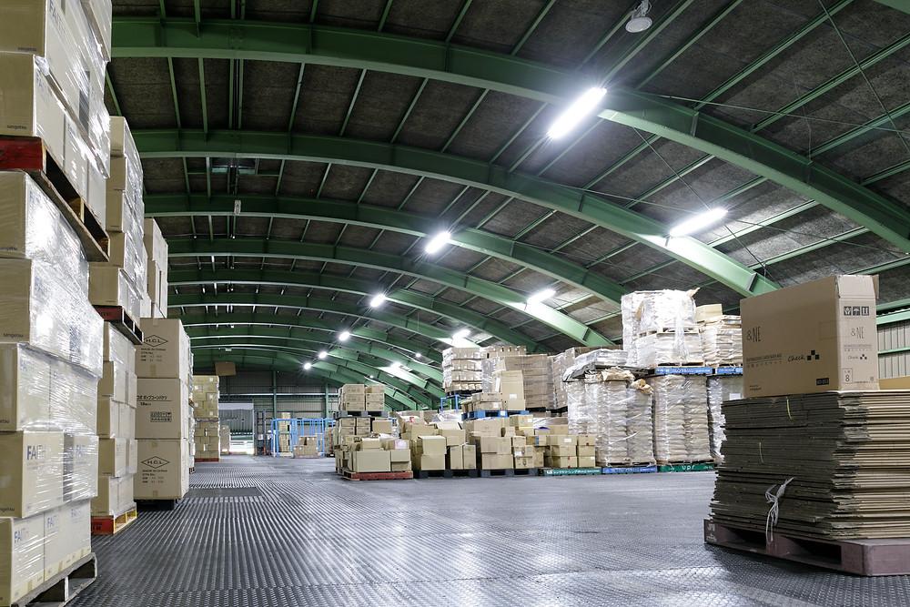 アシストラインの1000平米の倉庫