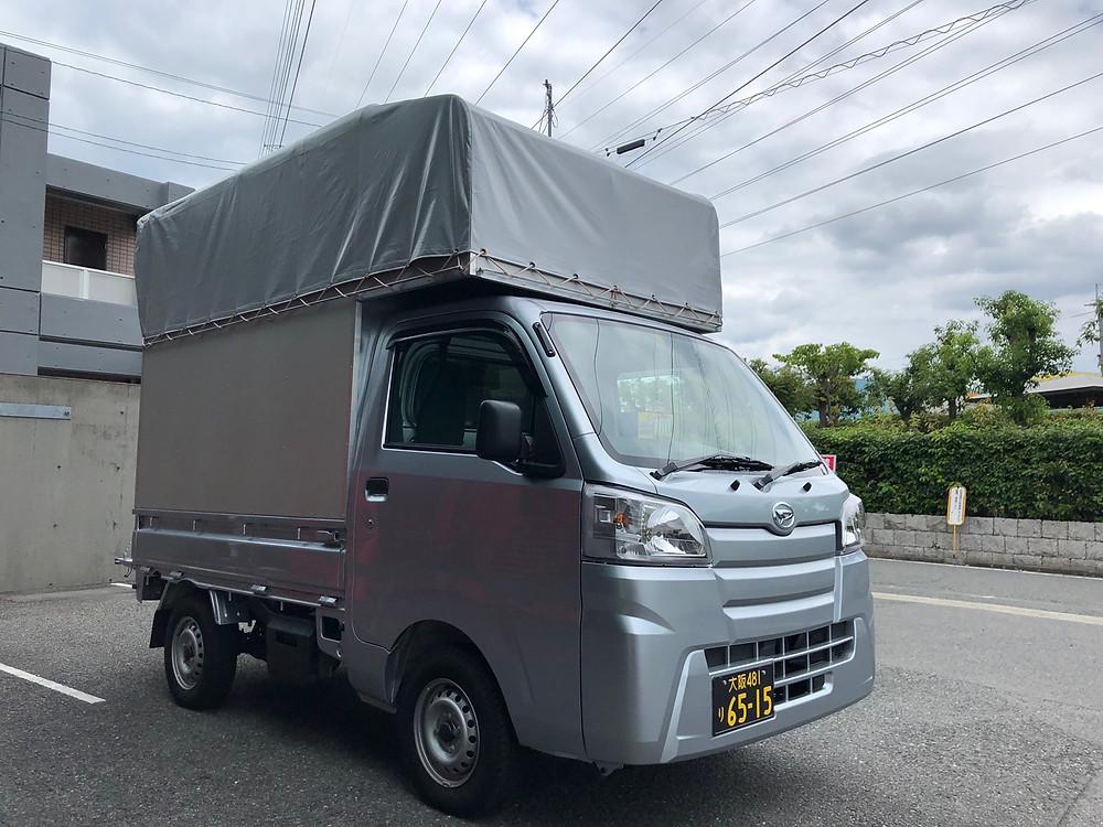 大阪軽貨物運送 幌 背高 トラック
