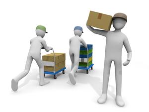 荷物の運搬作業