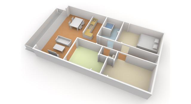②新居の間取り図で収納イメージ