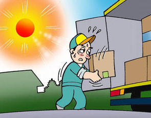 トラック運転手の熱中症