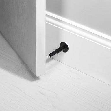 DOOR STOP / WALL / BLACK