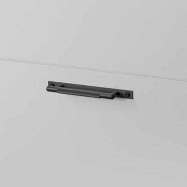 PULL BAR / PLATE / LINEAR / BLACK / SMALL