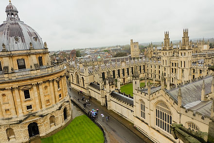 aerial view of Oxford University and colleges_