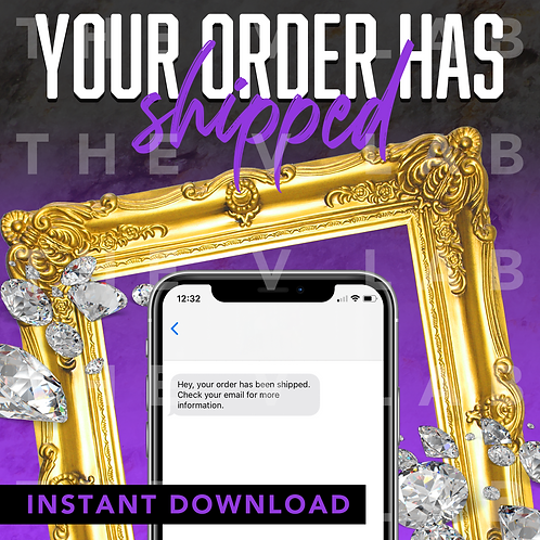 Order Shipped#1 - Purple