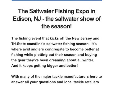 Book Now! And come see us at the Saltwater Fishing Expo!