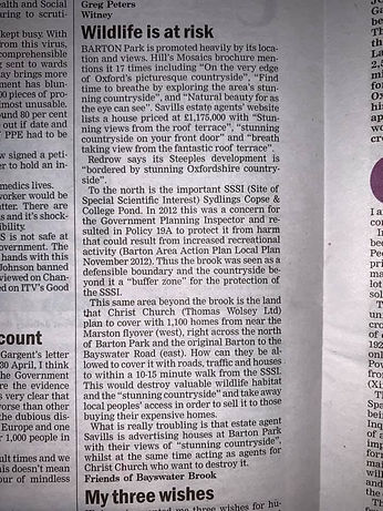 Oxford times Margaret's letter FBB.jpg
