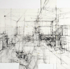 Studio interior - the dust absorbs 2009
