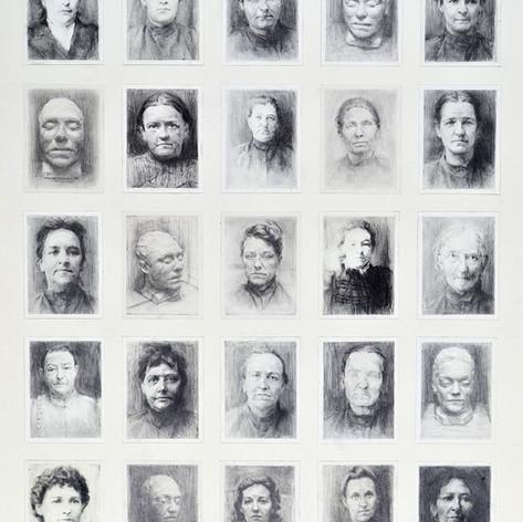 Rendered Homage - Old Melbourne Gaol Prisoners 2015