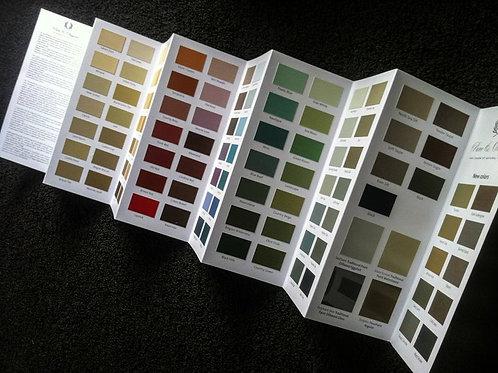 Nuancier des couleurs