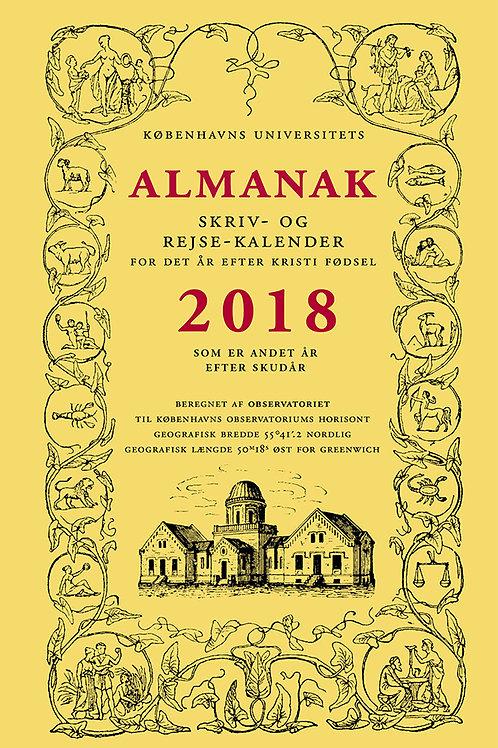 Københavns Universitet, Universitetets Almanak Skriv- og Rejsekalender 2018