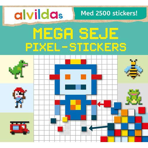 Alvildas mega seje pixel-stickers (sæt á 3 stk. Pris pr. stk 69,95)
